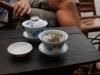 Pause dans sympathique maison de the de Chengdu